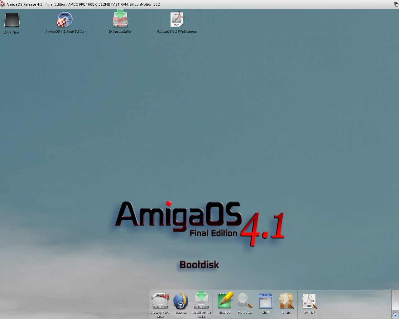 Amiga like OSes on QEMU